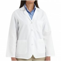 Red Kap KP11WH Women's White Lapel Counter Coat