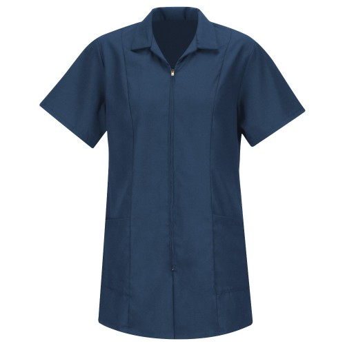 Red Kap KP43 Women's Navy Zip-Front Smock