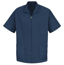 Red Kap KP44 Men's Zip-Front Smock - Navy