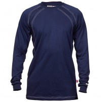 Flame Resistant Navy Crew Cotton Jersey Shirt