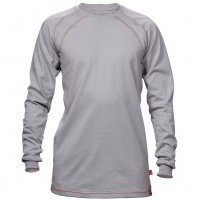 Flame Resistant Silver Crew Cotton Jersey Shirt