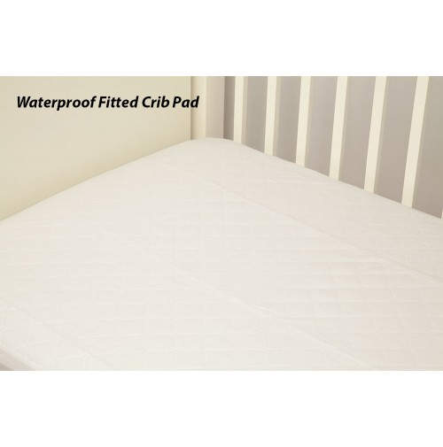 Waterproof Fitted Quilted Crib Pad