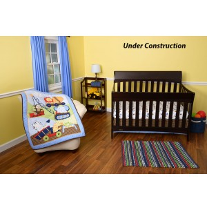 3 Piece Crib Set, Comforter, Ruffle, Sheet