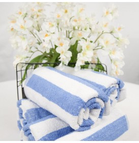 Ocean Blue Stripe Towel by Riegel