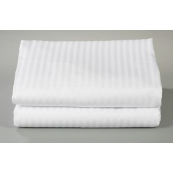 T-310 Royal Suite White Satin Stripe Sheets, Thomaston