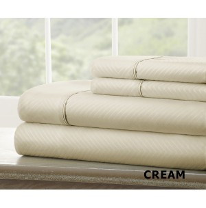 4-Piece Chevron Embossed Sheet Set by ienjoy Home®