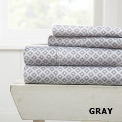 Polaris Patterned 4-Piece Sheet Set