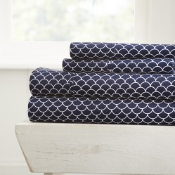 Scallops Patterned 4-Piece Sheet Set