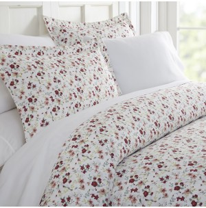 Blossoms Patterned 3-Piece Duvet Cover Set by ienjoy Home®