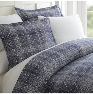Polkadot Patterned 3-Piece Duvet Cover Set