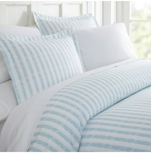 Rugged Stripes Patterned 3-Piece Duvet Cover Set