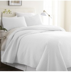 3-Piece Herring Quilted Coverlet Set