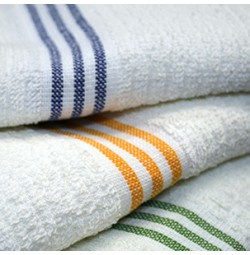 Three Stripe Ribbed Pool Towels