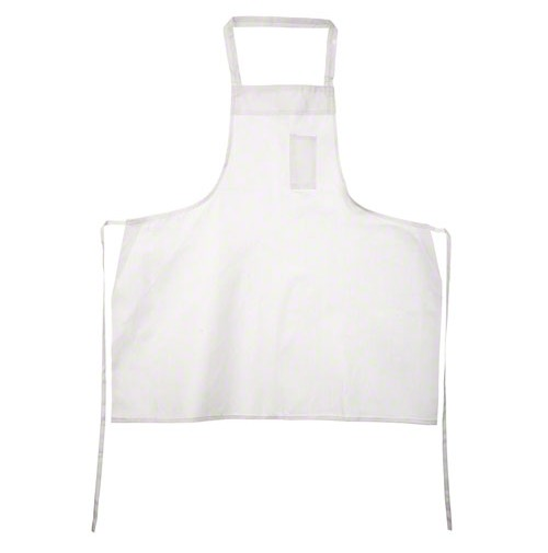 White Economy Bib Aprons, Plain Weave 100% Cotton