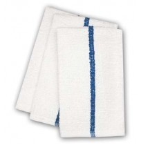 Center Stripe Towels, 10s Economy, Blue Stripe