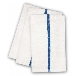 ADI Center Stripe Towels, 10s Economy, Blue Stripe