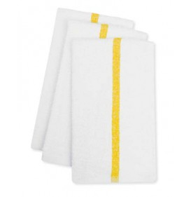 ADI Center Stripe Towels, 10s Economy, Gold Stripe