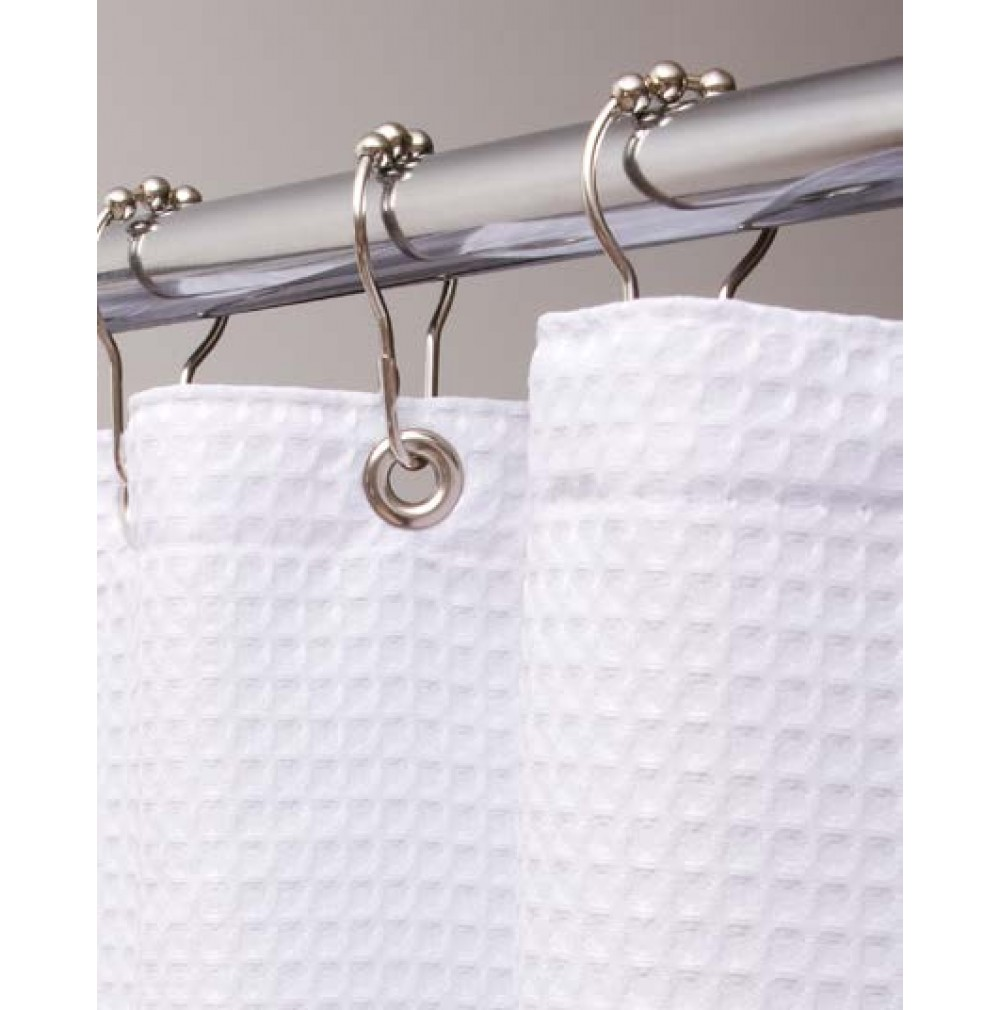 home shower curtain white x kitchen waffle hotel wide weave quality dp com amazon curtains cotton long