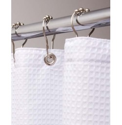 Luxor Diamond Waffle Shower Curtain