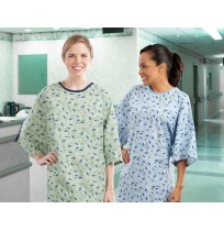 Patient Gowns, Printed Design, 100% Polyester