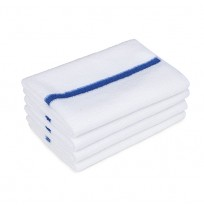 Bar Towels, Ribbed Terry, Center Stripe