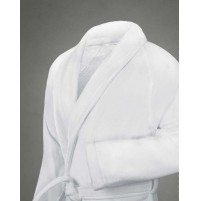 Lavina Shawl Collar Robe 100% Cotton, White