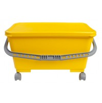 Microfiber Mop Charging Bucket with Lid & Wheels
