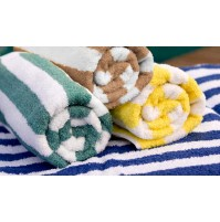 Cabana Stripe Pool Towels-Premium