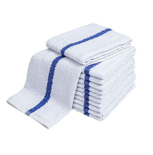 ADI Bar Towels, Full Terry, Center Stripe