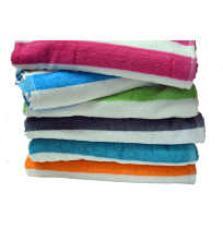 Cabana Stripe Towels, Economy, Assorted Colors
