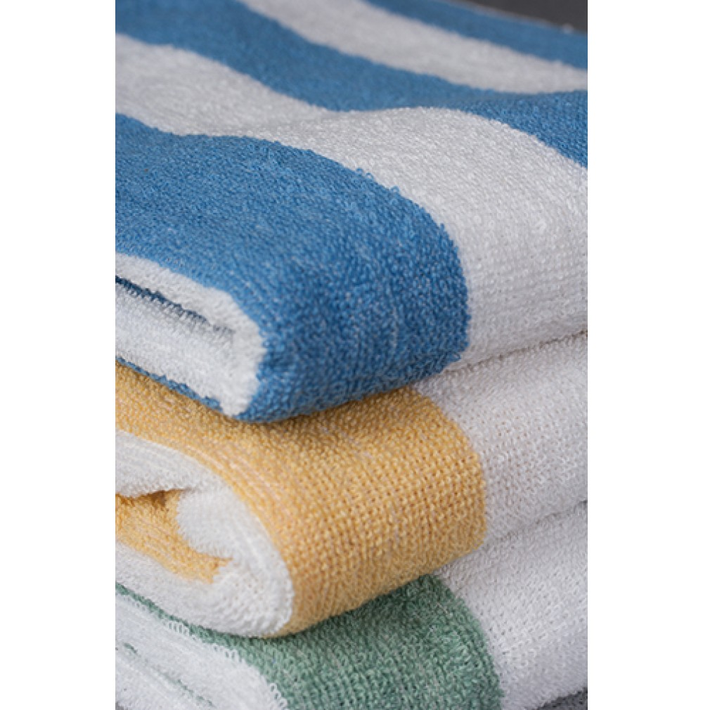 Cabana Stripe Beach Towels Economy Vat Dyed