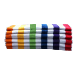 Cabana Stripe Towels, Economy, Multicolor Stripe