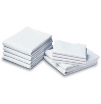White Bed Sheets T-130 Economy Light Weight