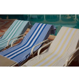 Tropical Stripe Pool Towels 32 x 70