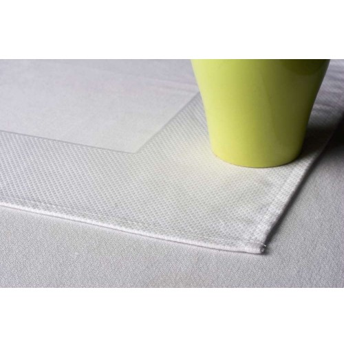 Egyptian Cotton Bird's Eye 120 Round Tablecloth