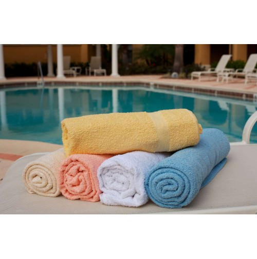 Pool Towels Solid Colors, Reactive Dye