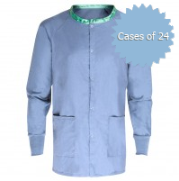 Ceil Blue Scrub Warmup Jacket by American Dawn