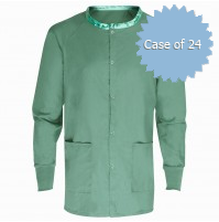 Scrub Warmup Jacket 100% Polyester, Jade Green
