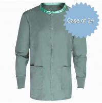 Scrub Warmup Jacket 100% Spun Polyester, Misty Green