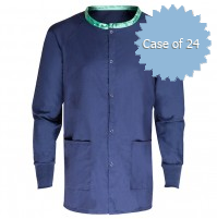 Scrub Warmup Jacket 100% Polyester, Navy