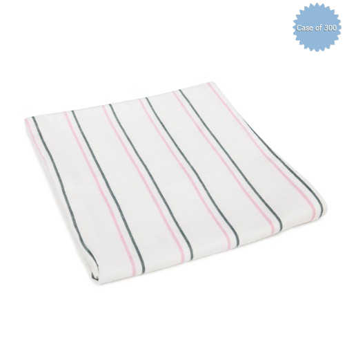 Baby Blankets, Pink and Grey Stripes