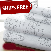 Vines Patterned 4-Piece Sheet Set