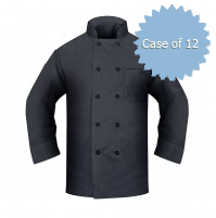Black Chef Coat, Black Buttons, Twill