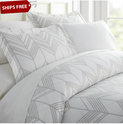 Alps Chevron Patterned 3-Piece Duvet Cover Set by ienjoy Home®