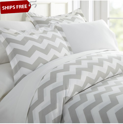 Arrow Patterned 3-Piece Duvet Cover Set by ienjoy Home®