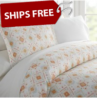 Aztec Dreams Patterned 3-Piece Duvet Cover Set