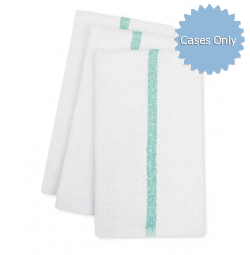 ADI Center Stripe Towels, 10s Economy, Green