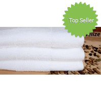 Belize White Textured 100% Cotton Pool Towel