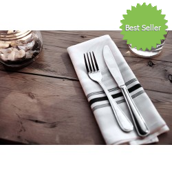 Infinity Stripe Bistro Napkins by Pinnacle