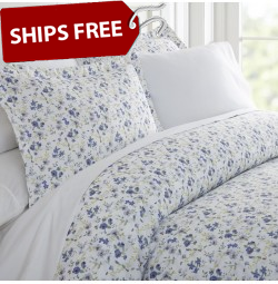 Blossoms Patterned 4-Piece Sheet Set